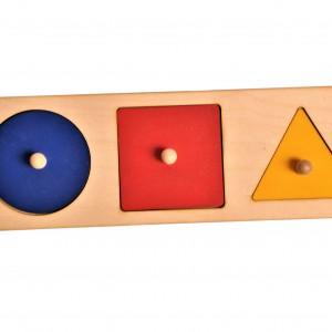 Układanka trzy figury Montessori