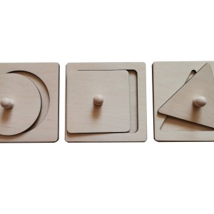 Układanka koło, kwadrat, trójkąt naturalne Montessori