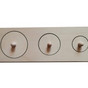 Układanka trzy koła naturalna Montessori
