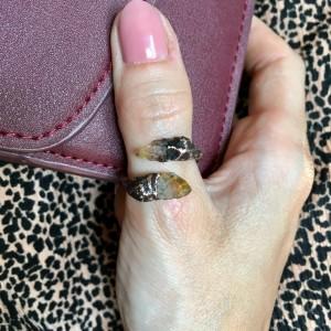 miedziany pierścionek z cytrynem