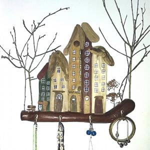 Uliczka z domkami, Wieszak na klucze lub biżuterię
