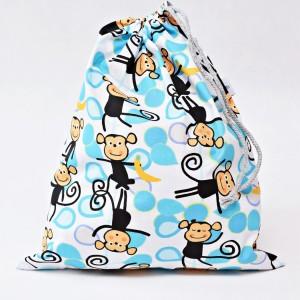 Worek na buty worek na kapcie do przedszkola do szkoły worek szkolny na ubrania małpki