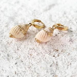 kolczyki WAVY SEASHELLS