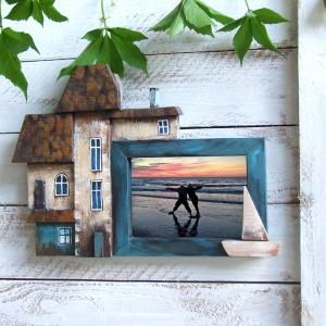 Dekoracyjna ramka do zdjęć, na ścianę.