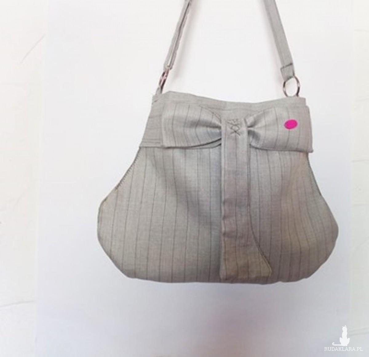 Mała torebka. Grey Stripes