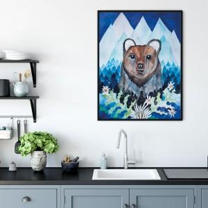 Niedźwiedź 50x70