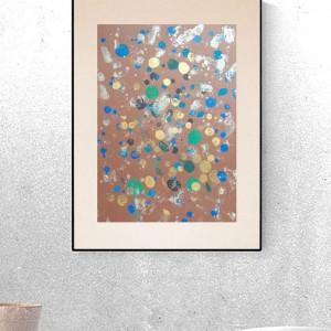 nowoczesna grafika na ścianę, abstrakcyjny rysunek, dekoracja do loftu, abstrakc malowana ręcznie