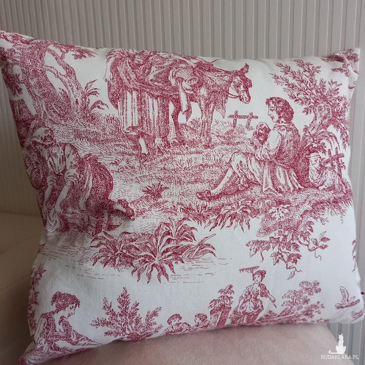 Poduszka dekoracyjna w stylu rustykalnym