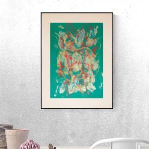 abstrakcyjna grafika na ścianę, nowoczesny rysunek 30x40, minimalistyczna dekoracja do loftu