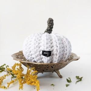 Dynia Halloween biała duża