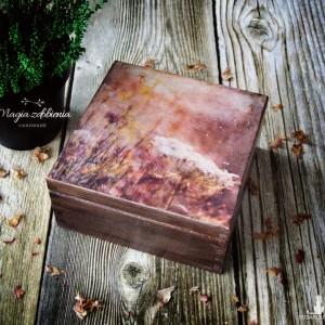 Pudełko na biżuterię lub inne drobiazgi - wspomnienie lata w barwach jesieni