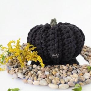 Dynia Halloween czarna duża