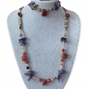 Komplet biżuterii  z kamieniami