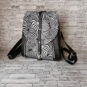 Plecak - liście zebry