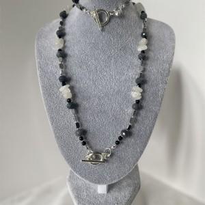 Komplet biżuterii z kamieniami naturalnymi
