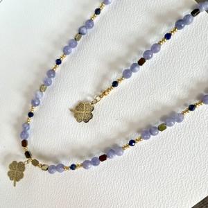 Lawendowy komplet biżuterii