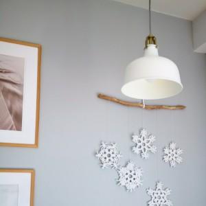Makrama śnieżynki dekoracja święta