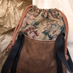 Żakardowa torba worek z kominem