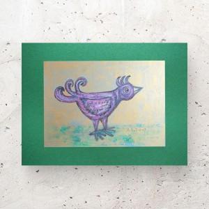 mały obrazek z ptaszkiem, ptaszek rysunek A4, grafika do sypialni, rysunek do salonu, obrazek do przedpokoju