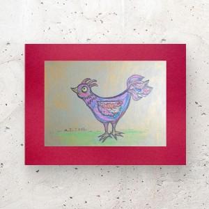 ptak obrazek A4, ptaszek rysunek do salonu, mały obraz do sypialni, grafika z ptaszkiem