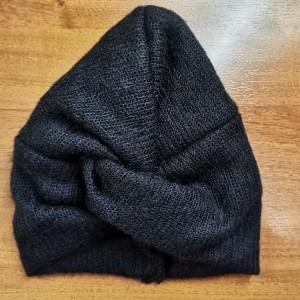 Turban uniwersalny dzianina swetrowa czarna