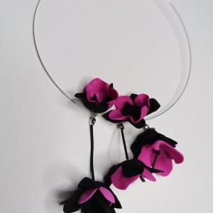 Naszyjnik kwiatowy zakładany