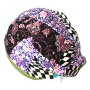 czapka damska patchworkowa etno