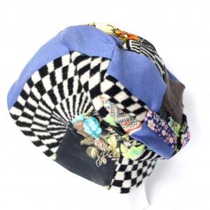 czapka ciepła patchworkowa damska