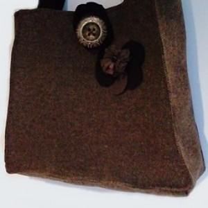 Duża wełniana torba handmade