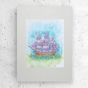 plakat z rybkami, ryby plakat do dziecięcego pokoju, grafika z rybkami, ryby obrazek, plakat do pokoju chłopca