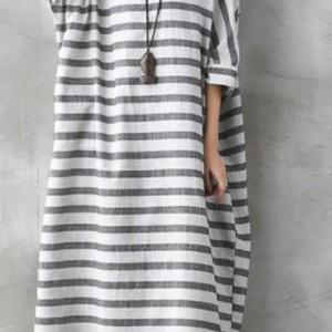 sukienka oversize w paski XXL bardzo duza