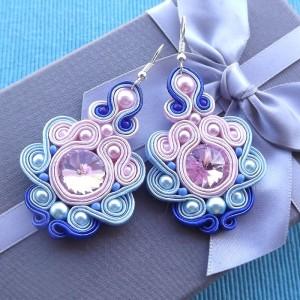 Baby Blue & Rose Kolczyki sutasz (Kopia)