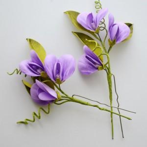 Spinki do włosów - liliowy groszek