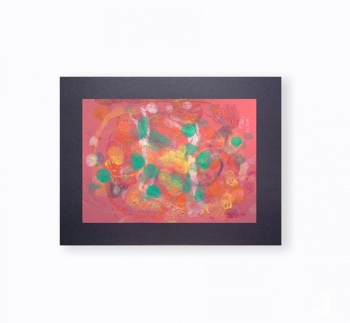grafika do loftu, abstrakcja w ciepłych kolorach, abstrakcyjny rysunek na ścianę, nowoczesna dekoracja do pokoju
