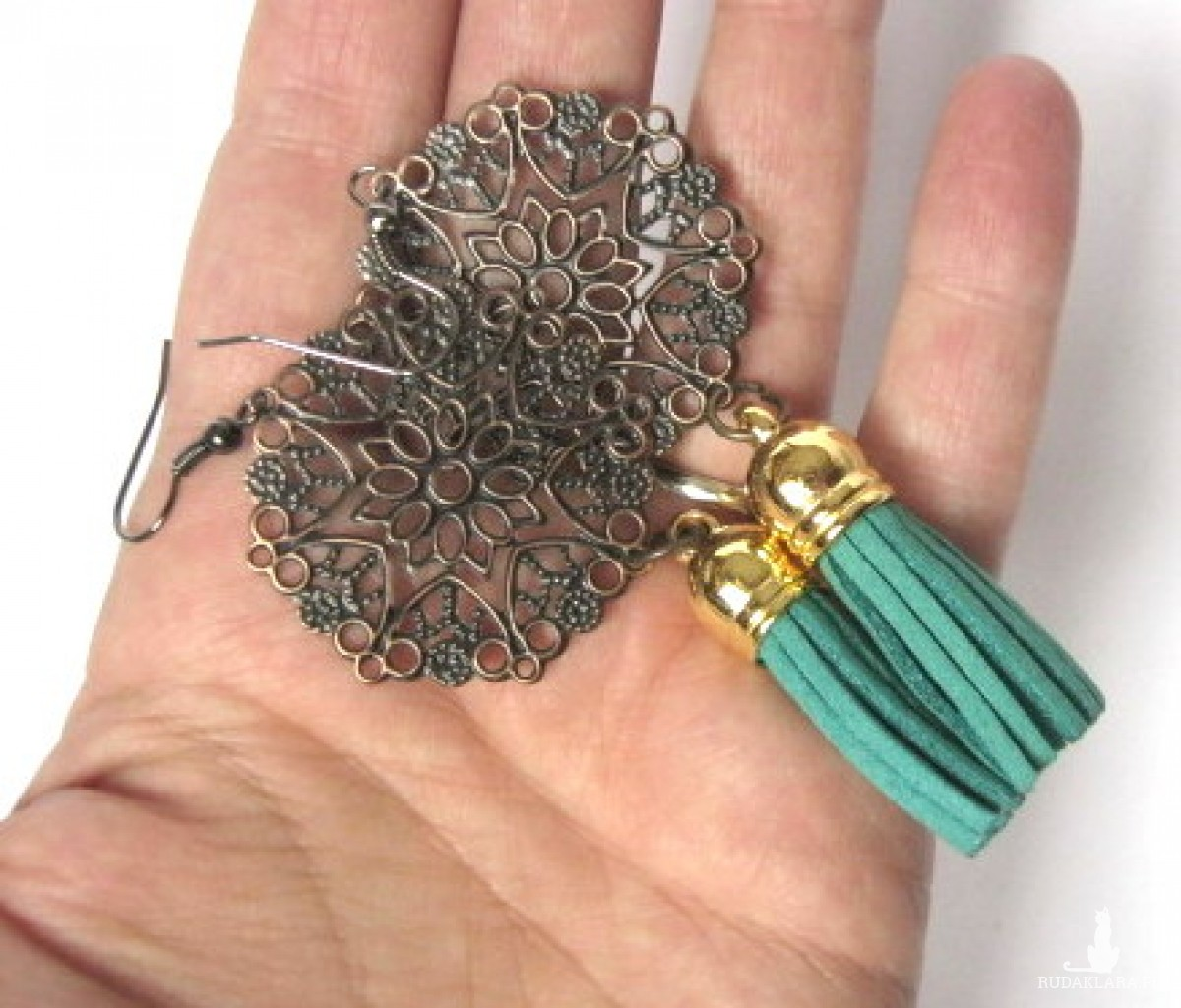 kolczyki handmade z frędzlami boho