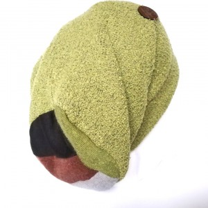 czapka damska dzianina wełniana z wełną dresowa