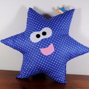 Uśmiechnięta gwiazdka niebieska minky
