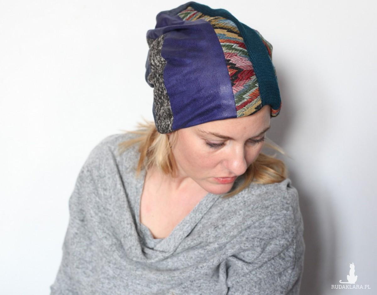 czapka dresowa damska handmade