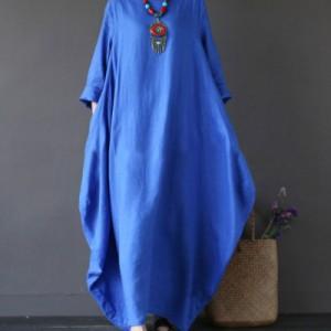 sukienka oversize bawełna i domieszką lnu