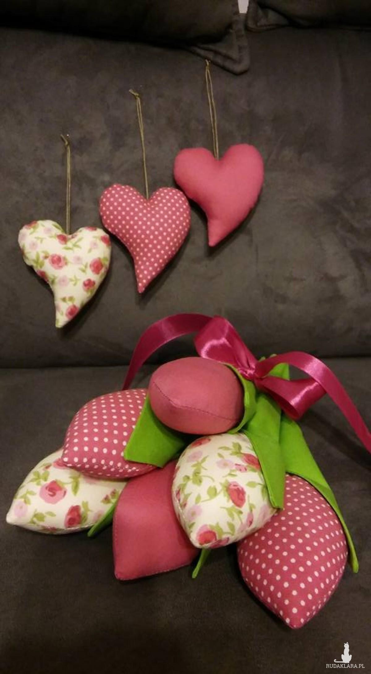 Bukiet tulipanów + serduszka