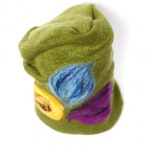 czapka handmade czesanką filcowane czapki wełniane A1