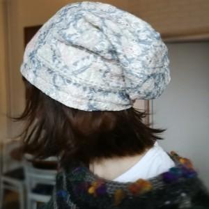 czapka ażurowa koronka pastel damska