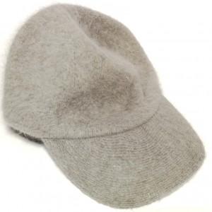 wełniana damska szara czapka z daszkiem