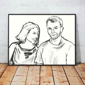 30 x 40 grafika biało czarna, pop art plakat, grafika skandynawski styl, biało czarny obraz,  plakat do loftu, minimalizm dekoracja na ścianę