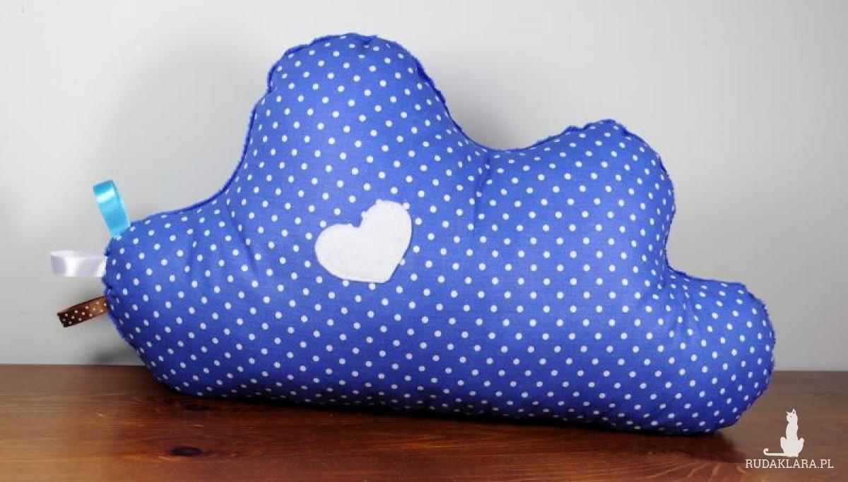 Poduszka niebieska chmurka minky