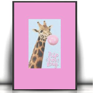 kolorowy obraz z rybką, ładny rysunek z rybą, dekoracyjna grafika do domu, ręcznie wykonany rysunek
