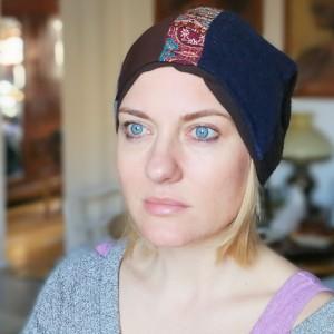 czapka patchworkowa damska etno