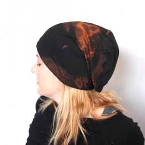 czapka damska męska handmade unisex farbowana ręcznie A1