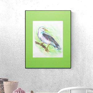 21x30 konik grafika na ścianę, koń obraz, koń plakat, ładna  grafika do dziecięcego pokoju, kolorowy plakat z konikiem,