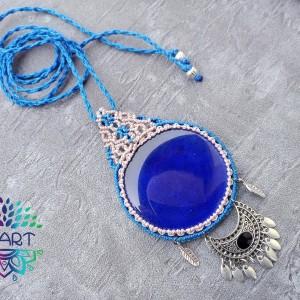 Naszyjnik makrama styl indyjski